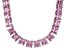 Bella Luce® 256.03ctw Pink Diamond Simulant Rhodium Over Silver Necklace