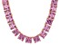 Bella Luce® 256.03ctw Pink Diamond Simulant 18k Gold Over Silver Necklace