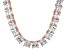 Bella Luce® 146.30ctw Princess Diamond Simulant 18k Gold Over Silver Necklace