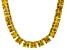 Bella Luce® 146.30ctw Yellow Diamond Simulant 18k Gold Over Silver Necklace