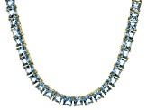 Bella Luce® 40.01ctw Princess Apatite Simulant 18k Gold Over Silver Necklace