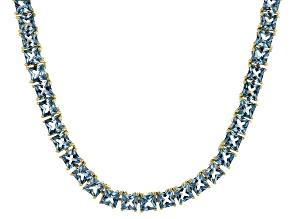 Bella Luce® 21.63ctw Princess Apatite Simulant 18k Gold Over Silver Necklace