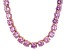 Bella Luce® 174.42ctw Pink Diamond Simulant 18k Rose Gold Over Silver Necklace