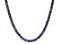 Bella Luce® 30.81ctw Tanzanite Simulant Rhodium Over Silver Tennis Necklace