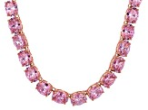 Bella Luce® 139.65ctw Oval Pink Diamond Simulant 18k Gold Over Silver Necklace