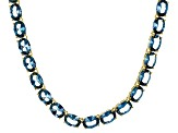 Bella Luce® 45.60ctw Oval Apatite Simulant 18k Gold Over Silver Necklace