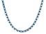 Bella Luce® 19.86ctw Oval Apatite Simulant Rhodium Over Silver Tennis Necklace