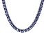 Bella Luce® 77.62ctw Princess Tanzanite Simulant Rhodium Over Silver Necklace