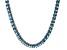Bella Luce® 40.01ctw Princess Apatite Simulant Rhodium Over Silver Necklace