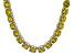 Bella Luce® 174.42ctw Yellow Diamond Simulant Rhodium Over Silver Necklace