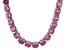 Bella Luce® 174.42ctw Round Pink Diamond Simulant Rhodium Over Silver Necklace