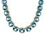 Bella Luce® 132.67 Ctw Round Apatite Simulant 18k Gold Over Silver Necklace