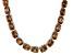 Bella Luce® 139.65ctw Champagne Diamond Simulant Rhodium Over Silver Necklace