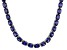 Bella Luce® 96.66ctw Oval Tanzanite Simulant Rhodium Over Silver Necklace
