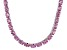 Bella Luce® 60.80ctw Oval Pink Diamond Simulant Rhodium Over Silver Necklace