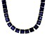Bella Luce® 146.30ctw Tanzanite Simulant 18k Gold Over Silver Necklace
