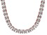 Bella Luce® 134.66ctw Princess Diamond Simulant 18k Gold Over Silver Necklace