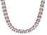 Bella Luce® 134.66ctw Princess Diamond Simulant 18k Gold Over Silver Necklace