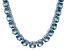 Bella Luce® 71.82ctw Apatite Simulant Rhodium Over Silver Tennis Necklace