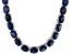 Bella Luce® 139.65ctw Oval Tanzanite Simulant Rhodium Over Silver Necklace