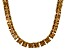 Bella Luce® 134.66ctw Champagne Diamond Simulant 18k Gold Over Silver Necklace