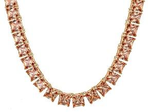 Bella Luce® 77.62ctw Champagne Diamond Simulant 18k Gold Over Silver Necklace