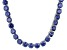 Bella Luce® 126.64ctw Tanzanite Simulant Rhodium Over Silver Tennis Necklace
