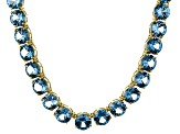 Bella Luce® 71.82ctw Round Apatite Simulant 18k Gold Over Silver Necklace