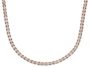 Bella Luce® 40.81ctw Round Diamond Simulant 18k Rose Gold Over Silver Necklace