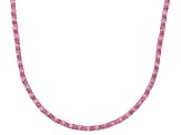 Bella Luce® 46.72ctw Oval Pink Diamond Simulant 18k Gold Over Silver Necklace