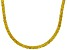 Bella Luce® 61.77ctw Yellow Diamond Simulant 18k Gold Over Silver Necklace