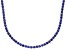 Bella Luce® 40.81ctw Round Tanzanite Simulant Rhodium Over Silver Necklace