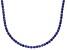 Bella Luce® 40.81ctw Round Tanzanite Simulant Rhodium Over Silver Necklace