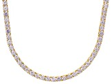 Bella Luce® 61.77ctw Round Diamond Simulant 18k Gold Over Silver Necklace