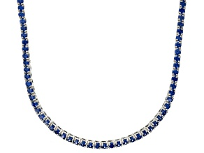 Bella Luce® 20.02ctw Round Tanzanite Simulant Rhodium Over Silver Necklace