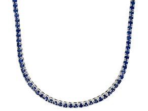 Bella Luce® 20.02ctw Round Tanzanite Simulant Rhodium Over Silver Necklace