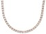 Bella Luce® 61.77ctw Round Diamond Simulant 18k Rose Gold Over Silver Necklace
