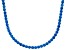 Bella Luce® 61.77ctw Round Apatite Simulant Rhodium Over Silver Tennis Necklace
