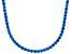 Bella Luce® 61.77ctw Round Apatite Simulant Rhodium Over Silver Tennis Necklace