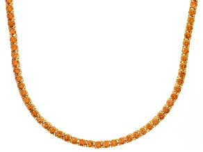 Bella Luce® 40.81ctw Champagne Diamond Simulant 18k Gold Over Silver Necklace
