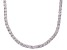 Bella Luce® 40.81ctw Round Diamond Simulant Rhodium Over Silver Tennis Necklace