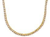 Bella Luce® 20.02ctw Round Diamond Simulant 18k Gold Over Silver Necklace