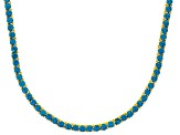 Bella Luce® 40.81ctw Round Apatite Simulant 18k Gold Over Silver Necklace
