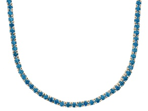 Bella Luce® 20.02ctw Round Apatite Simulant Rhodium Over Silver Tennis Necklace