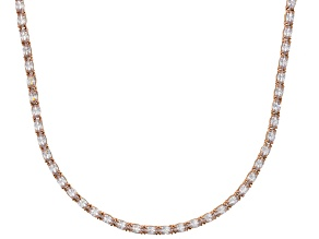 Bella Luce® 23.24ctw Oval Diamond Simulant 18k Rose Gold Over Silver Necklace