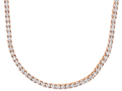 Bella Luce® 20.02ctw Round Diamond Simulant 18k Rose Gold Over Silver Necklace