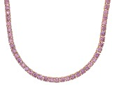Bella Luce® 61.77ctw Round Pink Diamond Simulant 18k Gold Over Silver Necklace