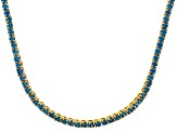 Bella Luce® 20.02ctw Round Apatite Simulant 18k Gold Over Silver Necklace