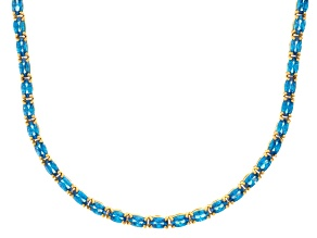 Bella Luce® 23.24ctw Oval Apatite Simulant 18k Yellow Gold Over Silver Necklace