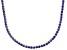 Bella Luce® 40.81ctw Round Tanzanite Simulant 18k Gold Over Silver Necklace